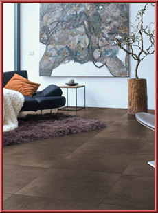 QuickStep Arte Polished Concrete Dark laminate flooring tiles