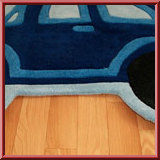 Blue Beetle Kids Car Rug
