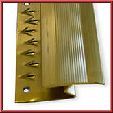 Brass effect laminate z bar