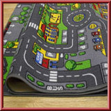 Kids Road Map Cars Rug