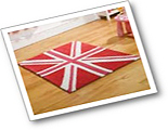 Childrens Pink Mini Union Jack Rugs
