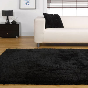 Starlet Rugs Twilight Black Shaggy Rug Buy Starlet