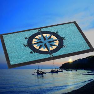 Coir Nautical Compass Door Mats Entrance Matting Cheap