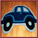 Boys Blue Beetle Car Rug